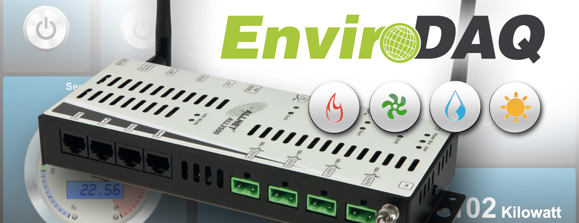 EnviroDAQ: Measuring, controlling, regulating with IP-based sensor and control center - ideal for environmental and building automation