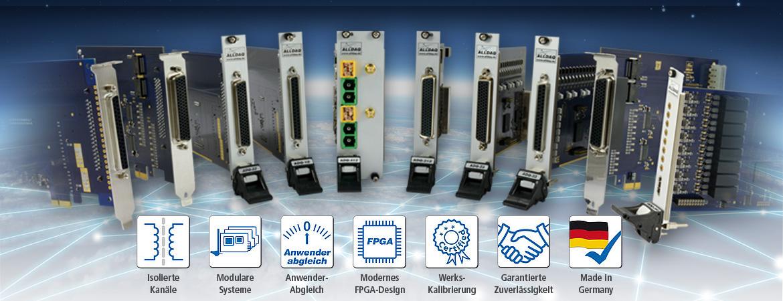 Die Eigenentwicklungen der Marke ALLDAQ stehen fÃŒr hochwertige, innovative PC-Messtechnik fÃŒr den Einsatz in Labor und Industrie.